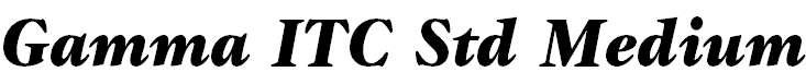 Gamma ITC Std Black Italic