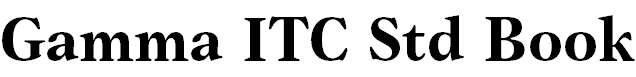 Gamma ITC Std Bold