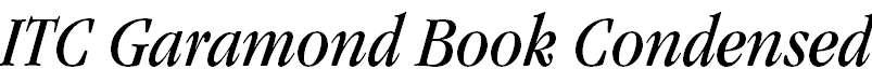 Garamond-BookCondensedItalic