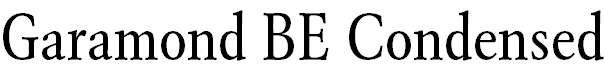 GaramondBE-Condensed