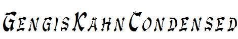 GengisKahnCondensed-Italic