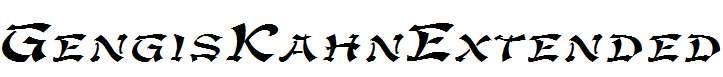 GengisKahnExtended-Italic
