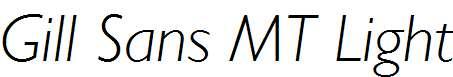 Gill-Sans-MT-Light-Italic