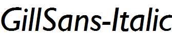 GillSans-Italic
