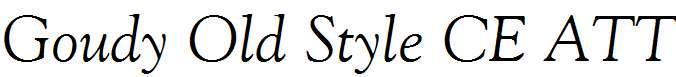 Goudy-Old-Style-CE-ATT-Italic
