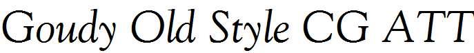 Goudy-Old-Style-CG-ATT-Italic