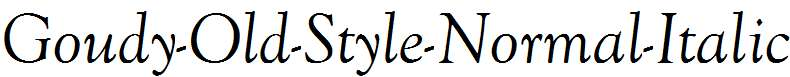 Goudy-Old-Style-Normal-Italic