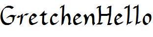 GretchenHello-Bold