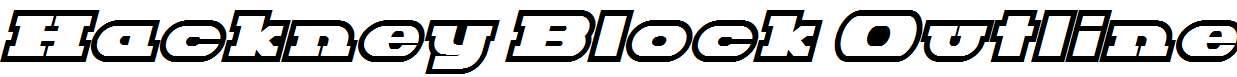 Hackney-Block-Outline-Italic