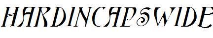 HardinCapsWide-Italic