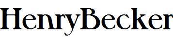 HenryBecker-Bold