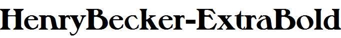 HenryBecker-ExtraBold