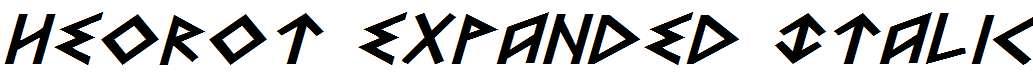 Heorot-Expanded-Italic