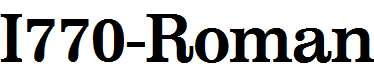 I770-Roman-Bold