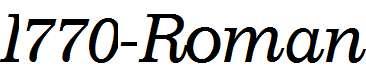 I770-Roman-Italic