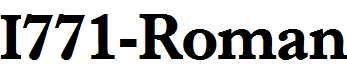 I771-Roman-Bold