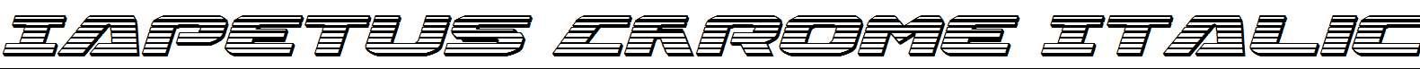 Iapetus-Chrome-Italic