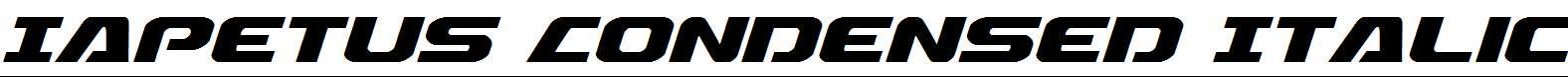 Iapetus-Condensed-Italic