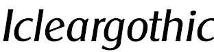 Icleargothic-Regular