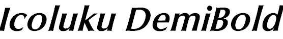 Icoluku-DemiBold