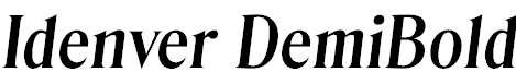 Idenver-DemiBold