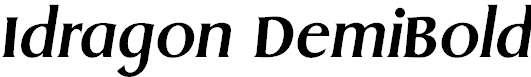 Idragon-DemiBold