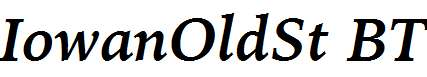 IowanOldSt-BT-Bold-Italic