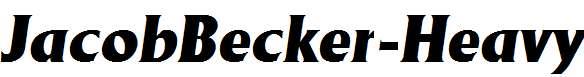 JacobBecker-Heavy-Italic