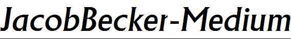 JacobBecker-Medium-Italic