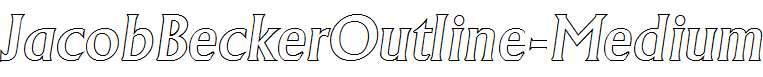 JacobBeckerOutline-Medium-Italic