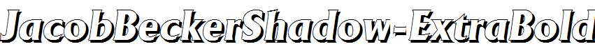 JacobBeckerShadow-ExtraBold-Italic
