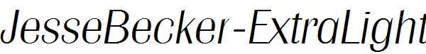 JesseBecker-ExtraLight-Italic