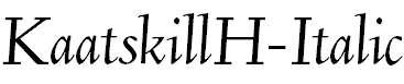KaatskillH-Italic