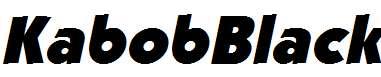 KabobBlack-Italic