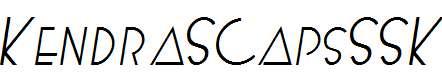 KendraSCapsSSK-Italic