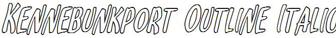 Kennebunkport-Outline-Italic