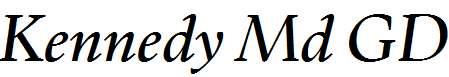 Kennedy-Md-Medium-Italic-GD