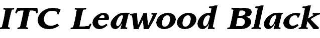 Leawood-BlackItalic