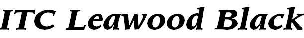 LeawoodITCbyBT-BlackItalic