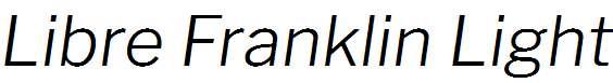 Libre-Franklin-Light-Italic
