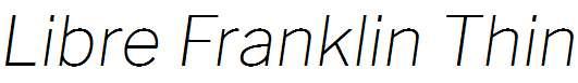 Libre-Franklin-Thin-Italic
