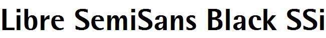 Libre-SemiSans-Black-SSi-Extra-Bold