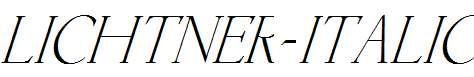 Lichtner-Italic