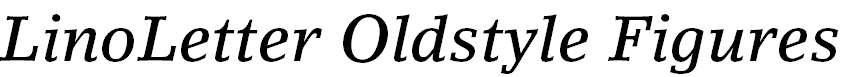 LinoLetter-MediumItalicOsF