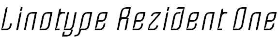 LinotypeRezident-One