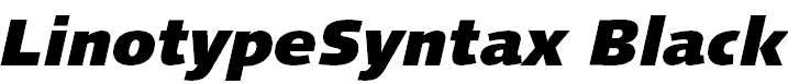 LinotypeSyntax-BlackItalic