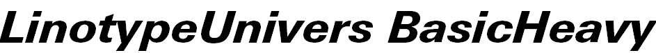 LinotypeUnivers-BasicHeavyItalic