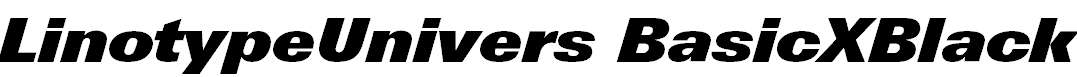 LinotypeUnivers-BasicXBlackItalic