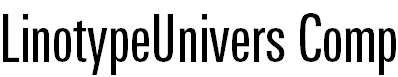 LinotypeUnivers-CompRegular