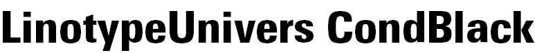 LinotypeUnivers-CondBlack